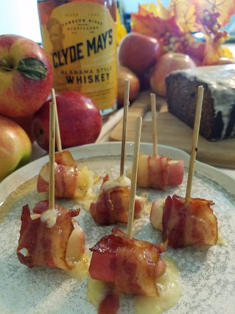 Bacon Wrapped Apple Bites