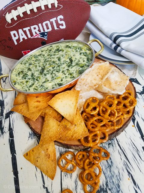 tailgating spinach artichoke dip