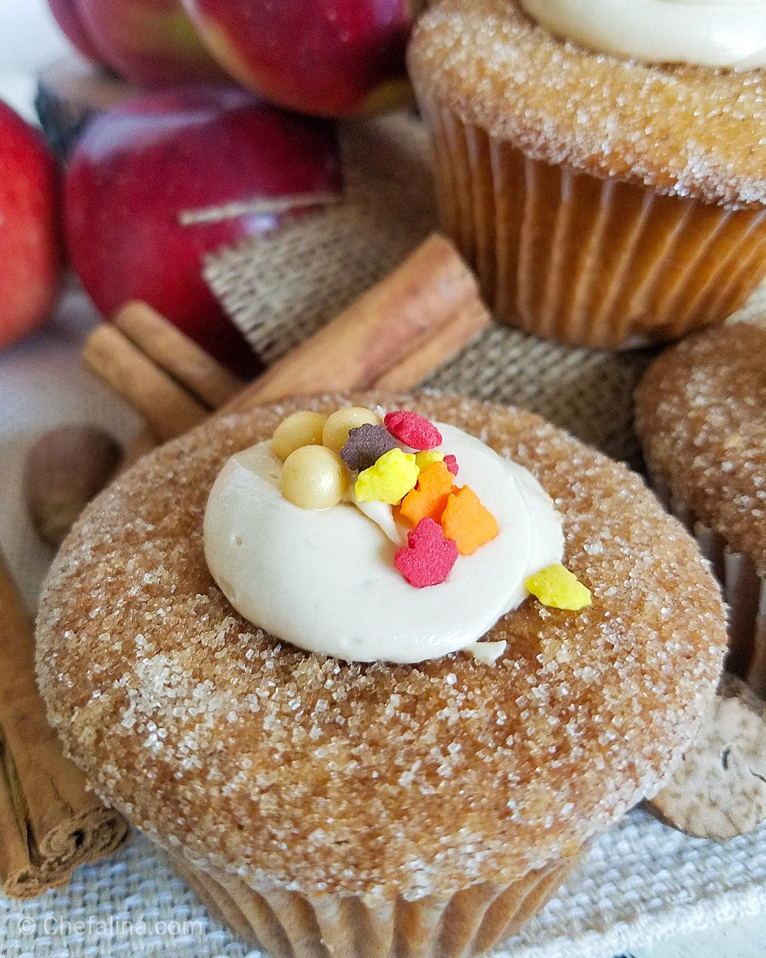 Apple Cider Donut Cupcake