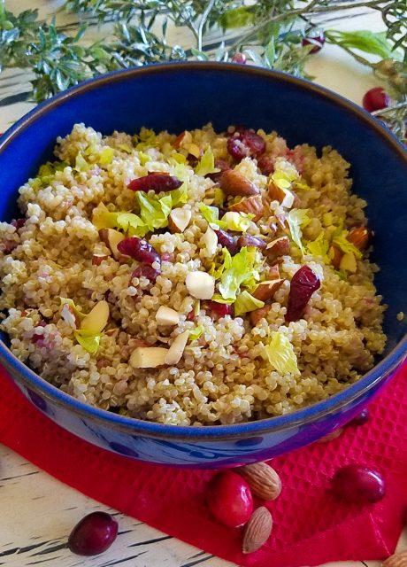 Quinoa Pilaf with Cranberries & Almonds