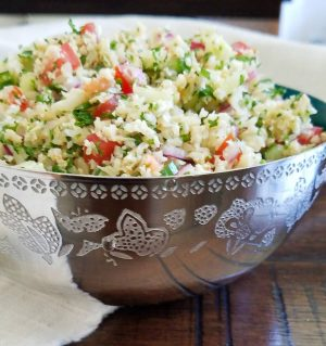 Roasted Cauliflower Tabouli