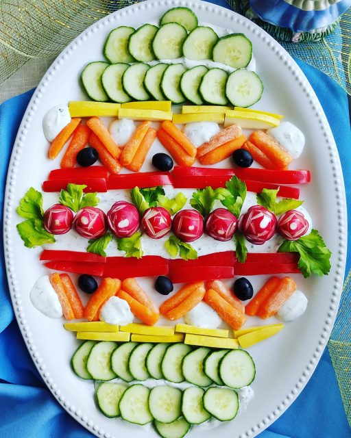 Easter Egg Crudite