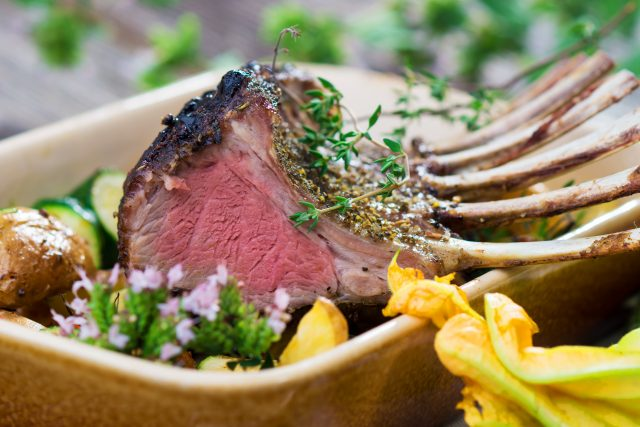 Garlic Herb Rack of Lamb