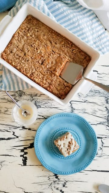 Cinnamon Coffee Cake Baked Oatmeal